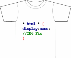 * html * { display:none; // IE6 Fix }